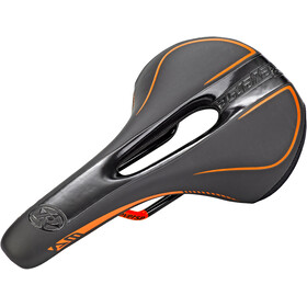 Reverse AM Ergo Sadel, black/fox orange